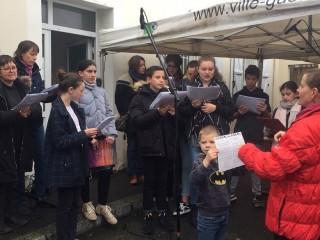 La Chorale au marché de Noël de la Paroisse